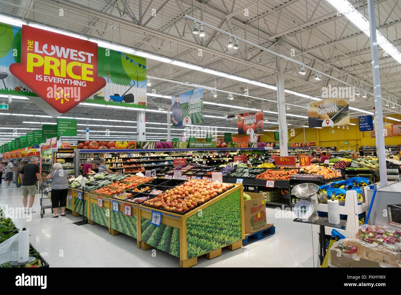 Produits frais Ministère de la magasin Walmart à Cornwall