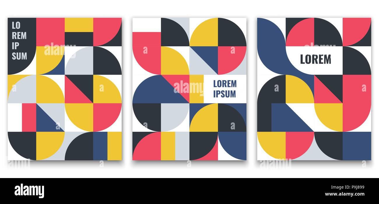 Motif Géométrique Dans Un Style Scandinave Minimaliste Pour