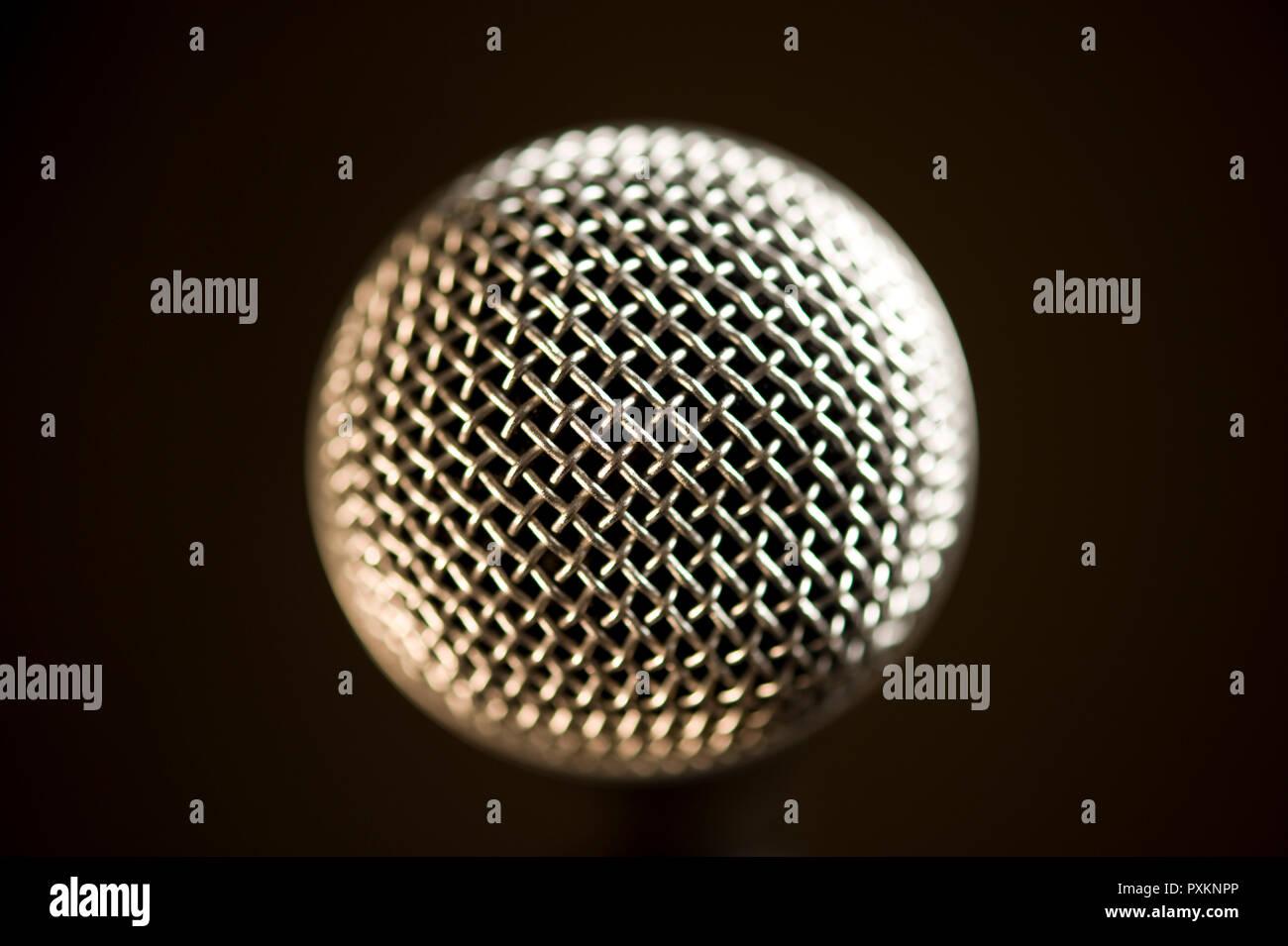 Un microphone, gros plan Banque D'Images