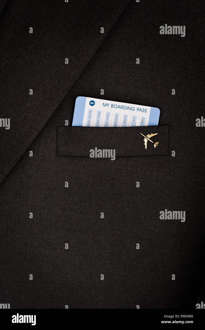 Une carte calendrier dans une poche de veste Banque D'Images