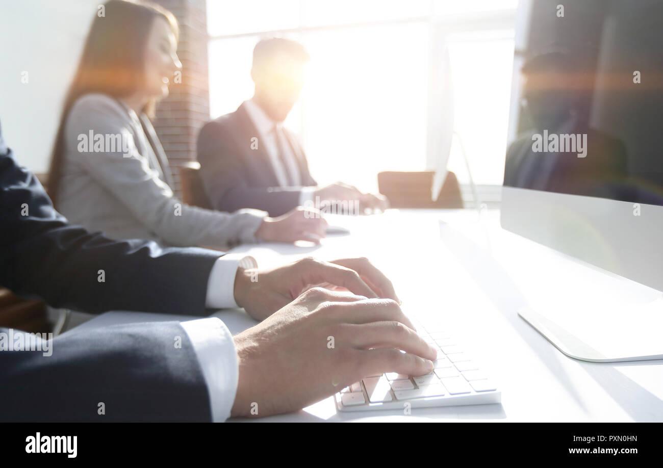 Image d'arrière-plan d'une réunion d'affaires . Photo Stock