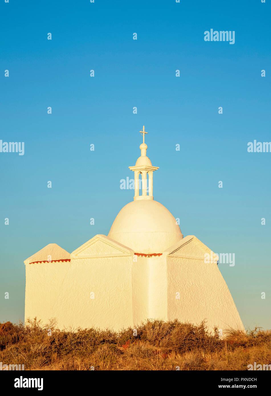 Fuerte San Jose Chapelle, la Péninsule de Valdès, Site du patrimoine mondial de l'UNESCO, la Province de Chubut, en Patagonie, Argentine Photo Stock