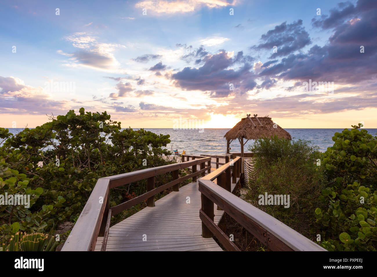 La demande de Barefoot Beach, Naples, Florida, USA Photo Stock