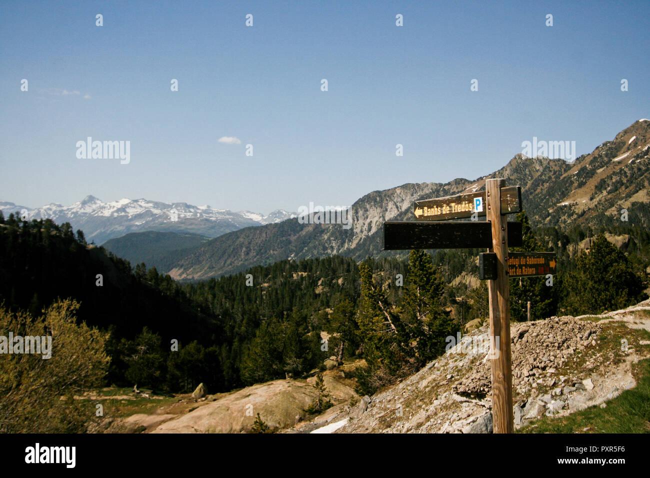 Le parc national Aigüestortes. La province de Lleida, Catalogne, Pyrénées, Espagne Photo Stock