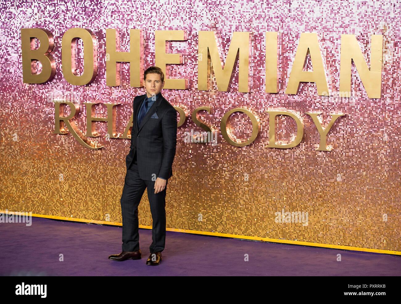 Allen Leech assiste à la première mondiale de 'Bohemian Rhapsody' à Wembley Arena d'ESS. Banque D'Images