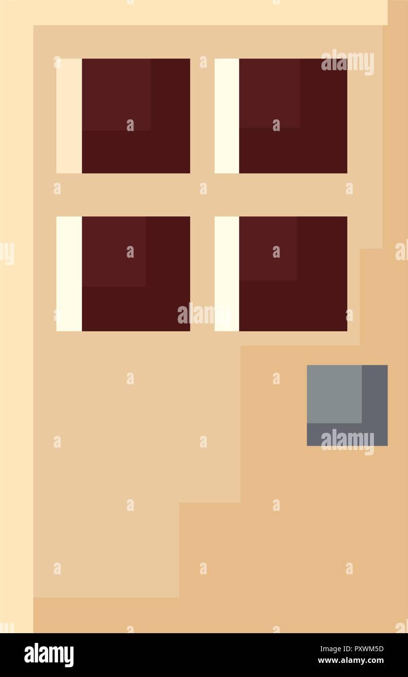 Porte d'entrée des pixels sur fond blanc vector illustration Photo Stock