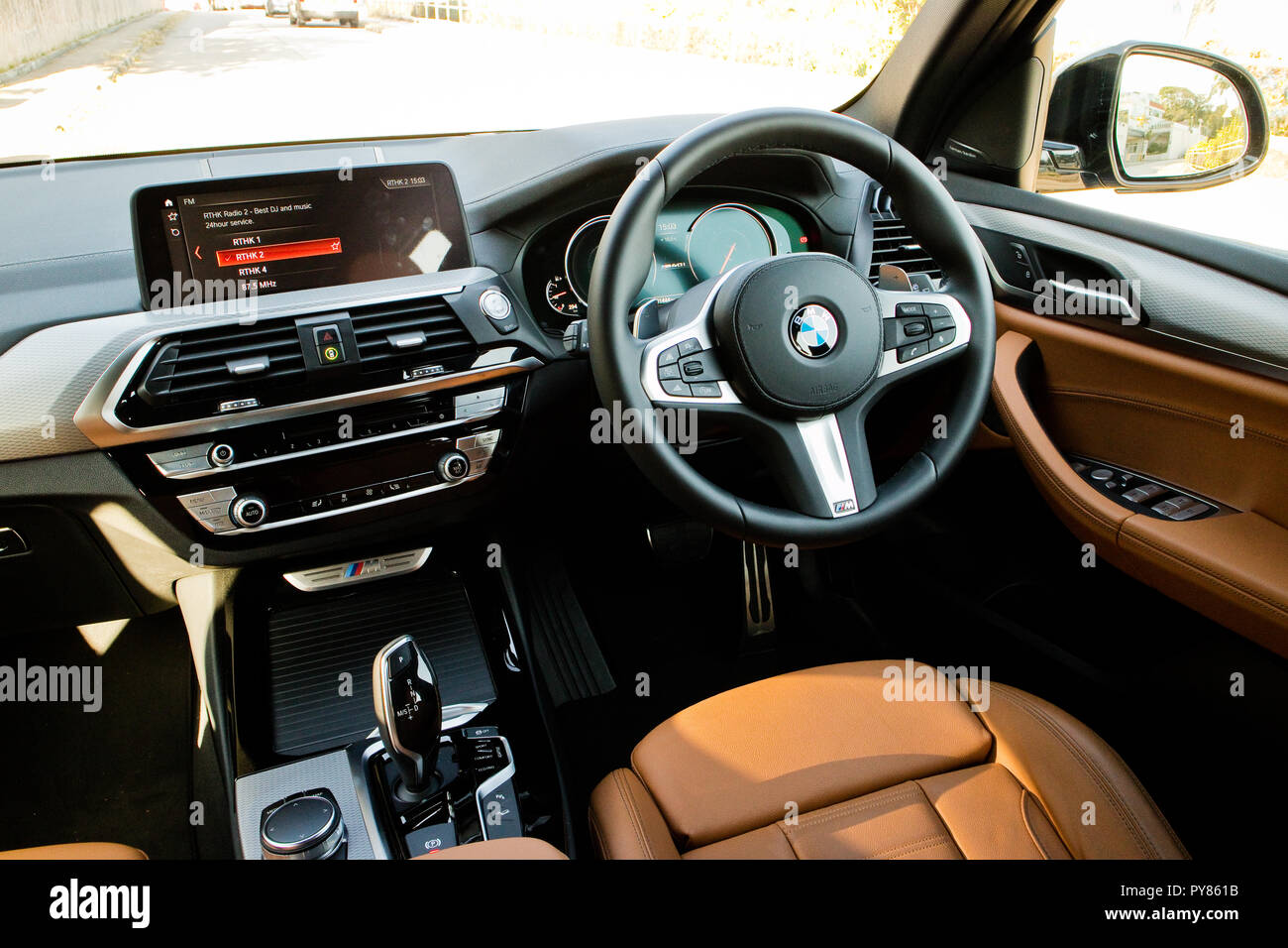 hong kong chine jan 11 2018 bmw x3 m40i 2018 jan 11 2018 de lintrieur hong kong