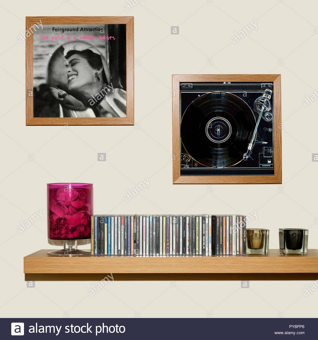 Collection de CD et pans de Fairground Attraction 1988 Le Premier album d'un million de baisers, Angleterre Photo Stock