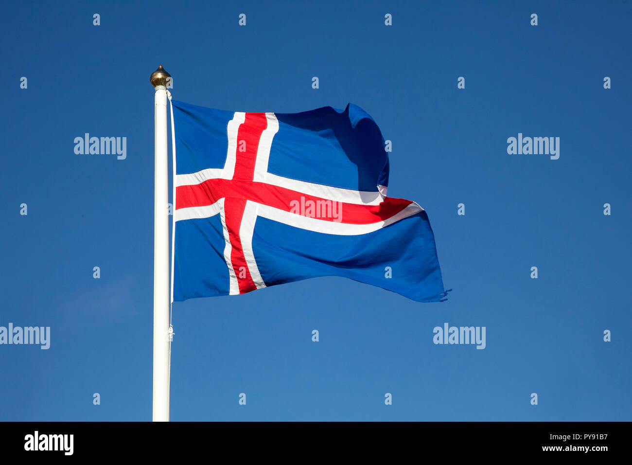 Drapeau de l'Islande Photo Stock