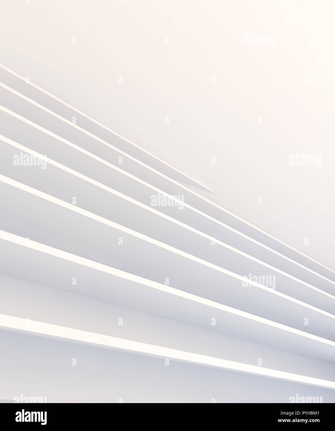 3d abstrait fond architectural de couleur blanche Banque D'Images