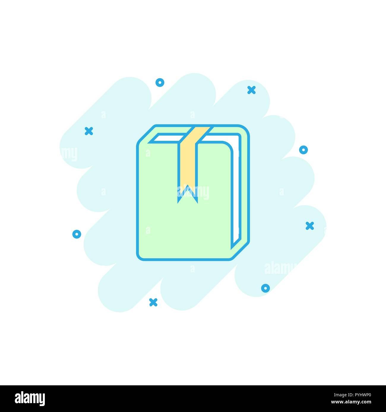 Cartoon Vector Icone Bibliotheque Livre Dans Le Style