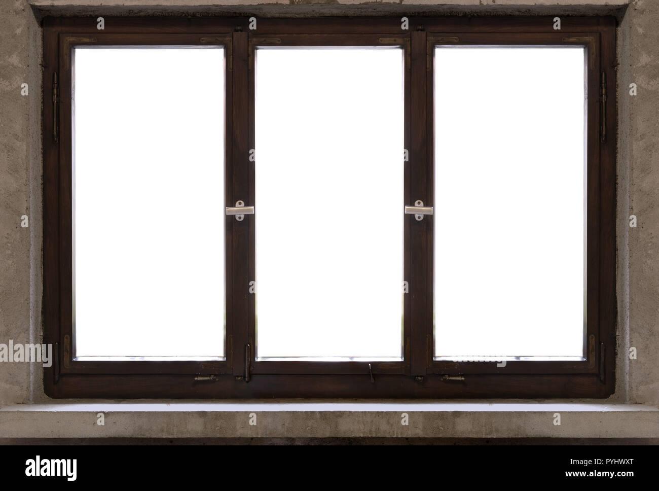 Entourage De Fenetre En Bois cadre en bois ancien fenêtre blanc vintage germes banque d