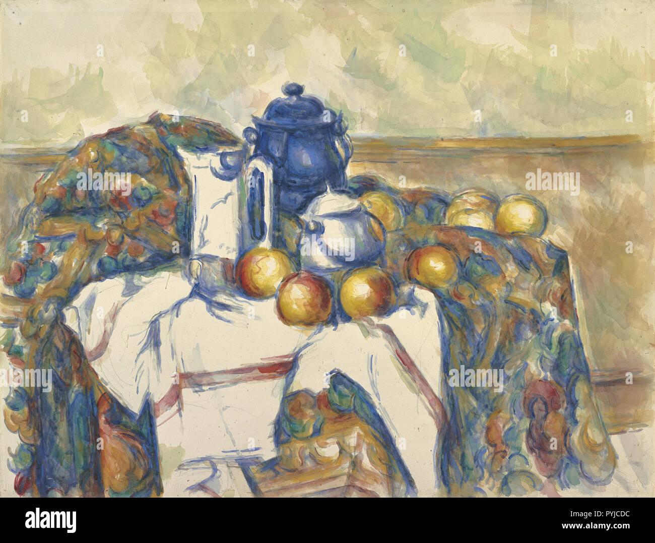 Nature morte au Pot bleu; Paul Cézanne (Français, 1839 - 1906); France; vers 1900; Aquarelle sur mine de plomb, 48,1 x 63,2 cm (18 15/16 x 24 7/8 in.); 83 Banque D'Images