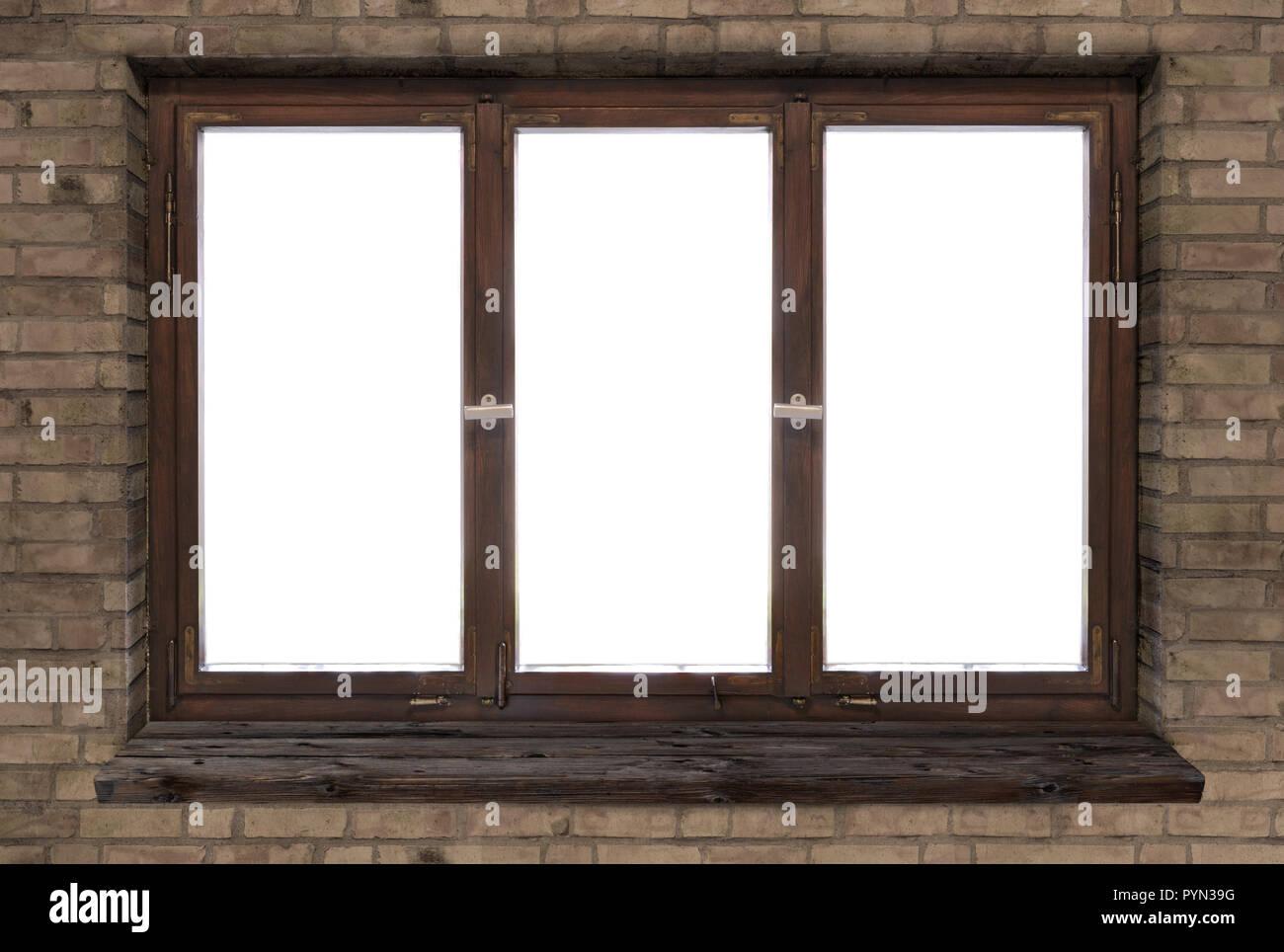 Cadre En Bois Ancien Fenêtre Blanc Vintage Germes Banque Dimages
