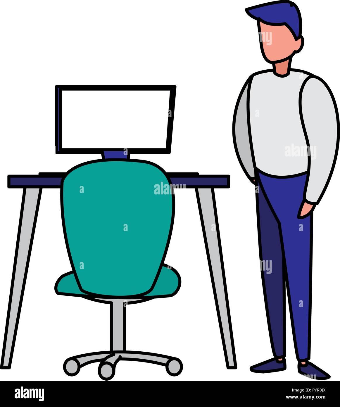 Les hommes d'affaires dans le milieu de la conception d'illustration vectorielle Illustration de Vecteur