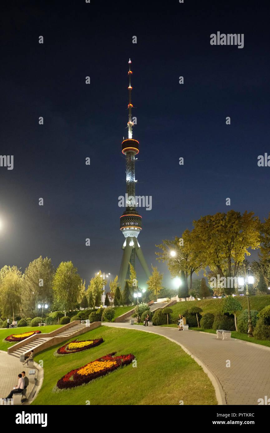 Vue De La Tour De Television De Tashkent Toshkent Teleminorasi Un