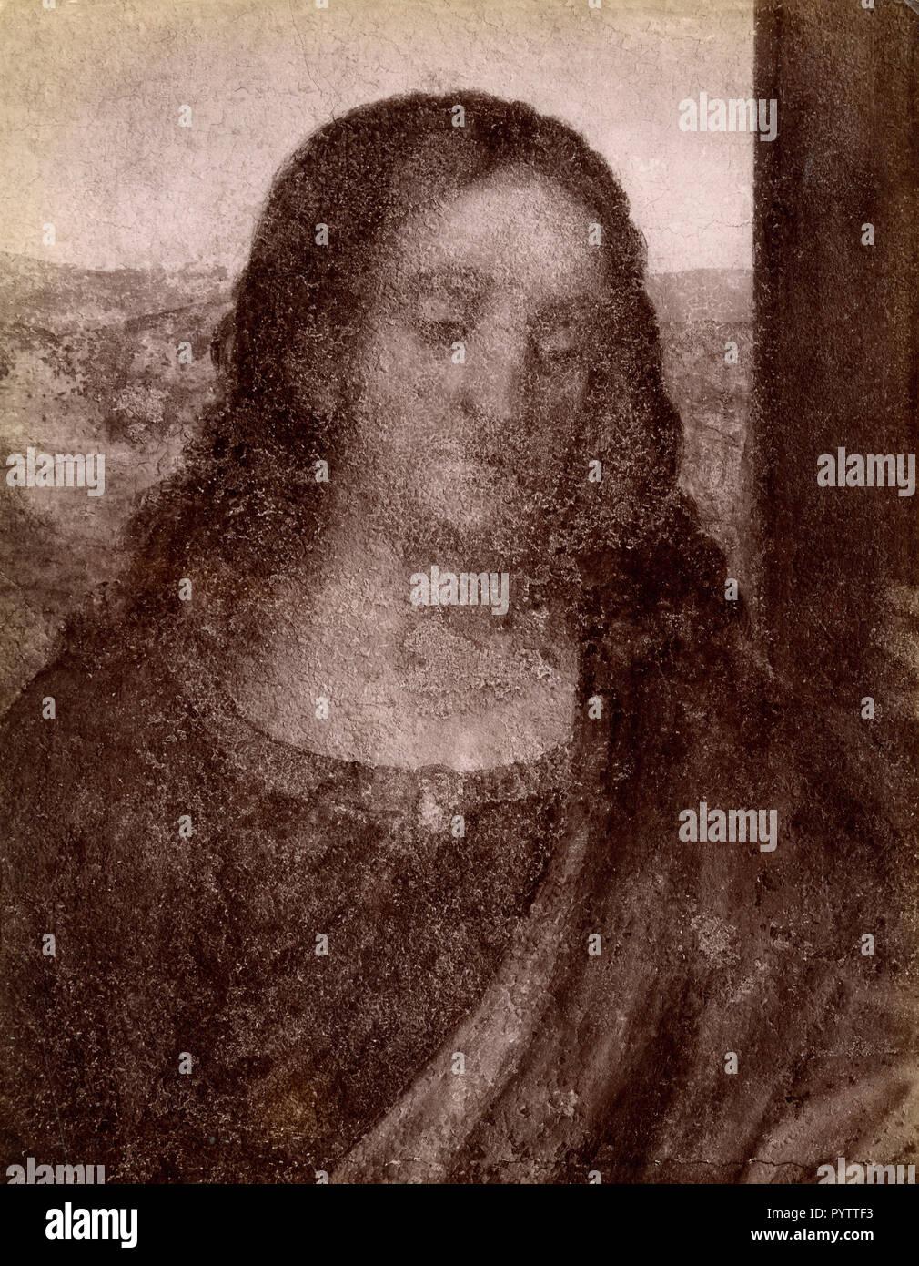 Detail De La Cene Tableau De Leonard De Vinci Milan Italie 1890 Photo Stock Alamy