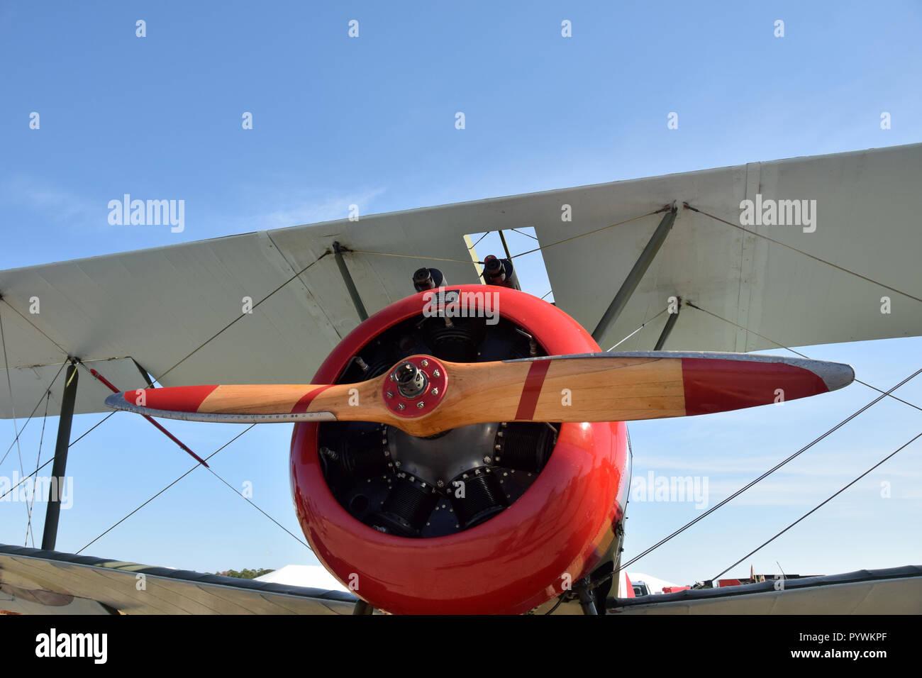 Biplan rétro/vue rapprochée Banque D'Images