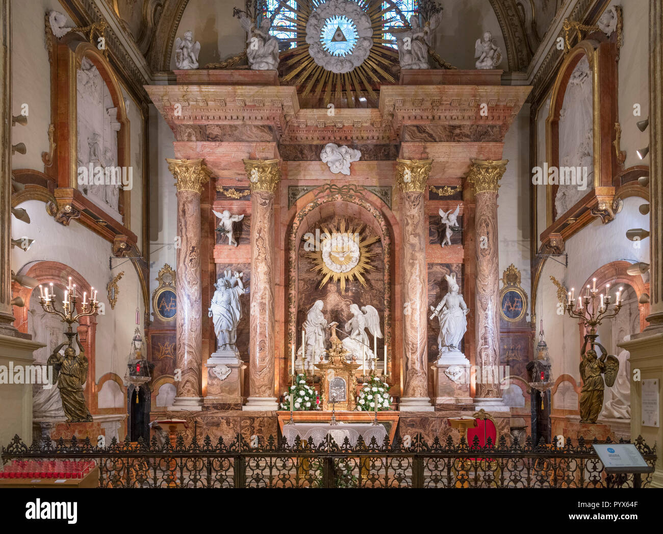 Capella de la Encarnacion (chapelle de l'Incarnation), la cathédrale de Málaga, Málaga, Costa del Sol, Andalousie, Espagne Banque D'Images