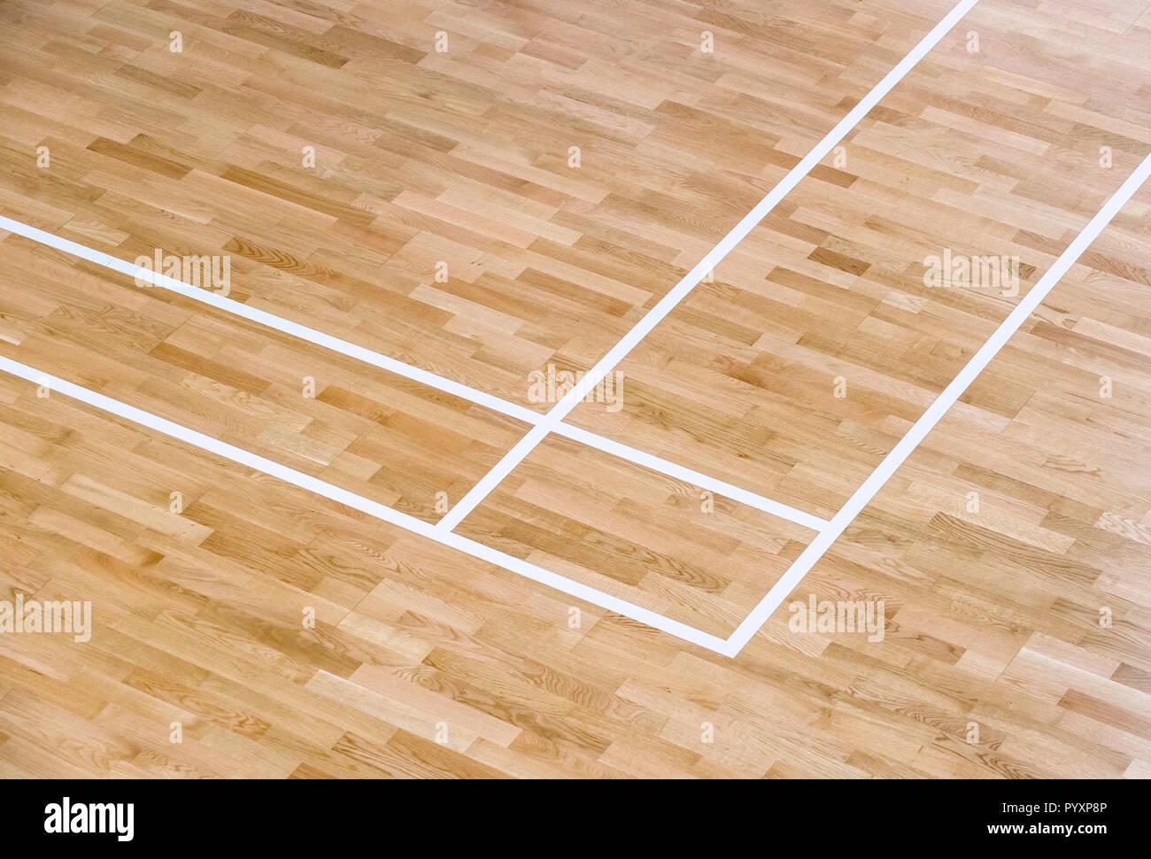 Sol Terrain De Basket plancher en bois volley-ball, basket-ball, terrain de