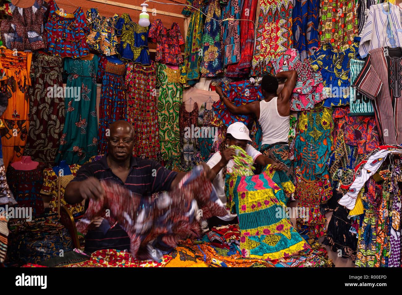 SIAO Ouagadougou, International Arts et artisanat, salon, Foire régionale 26 novembre 2018 - 04 octobre, Ougadoungou, Burkina Faso, Afrique Banque D'Images