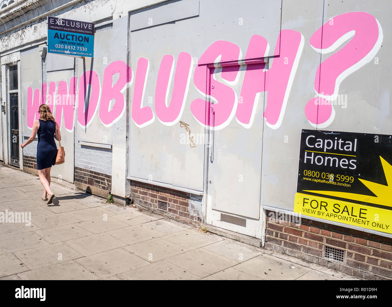 Windblush ? Graffiti Graffiti windrush par LDN Photo Stock