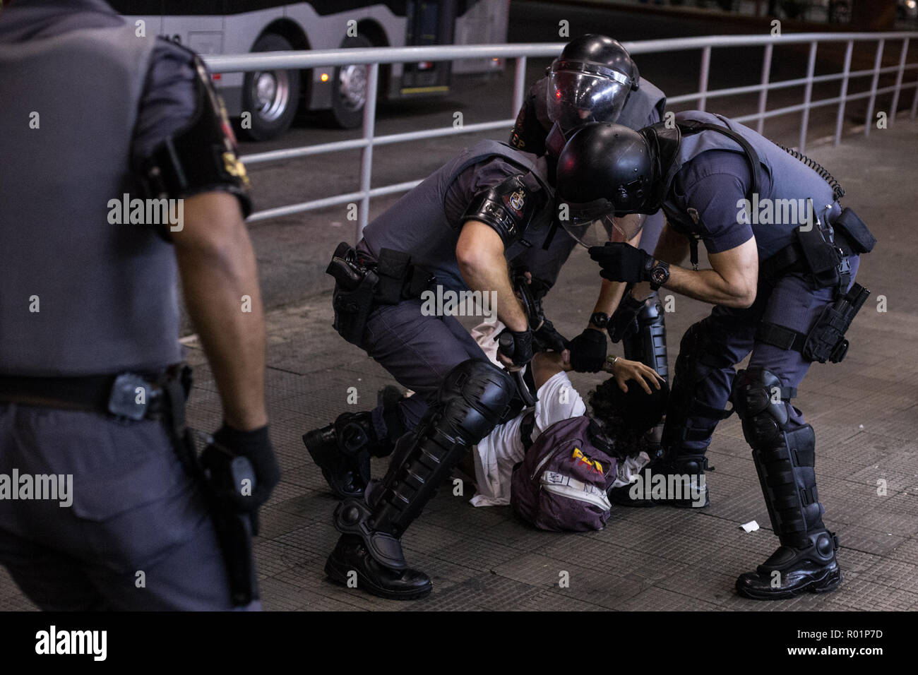Sao Paulo Bresil 30th Oct 2018 Arrestation D Un Homme De La
