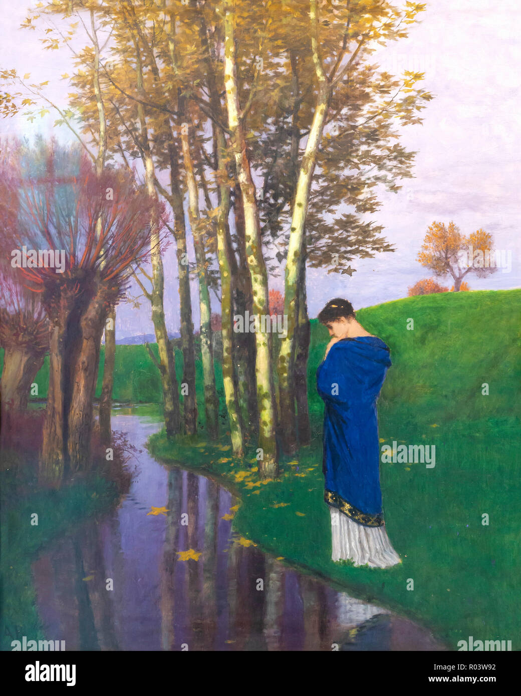 Pensées d'automne, Arnold Bocklin, 1886, Kunsthaus Zurich, Zurich, Switzerland, Europe Photo Stock