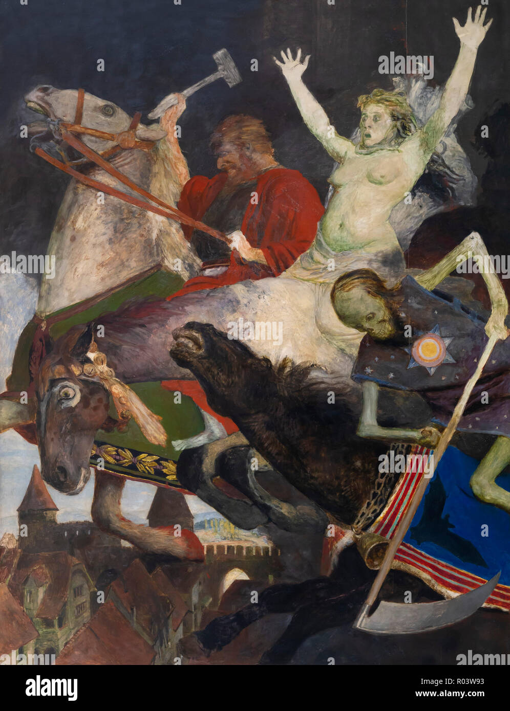 La guerre, Arnold Bocklin, circa 1897, Kunsthaus Zurich, Zurich, Switzerland, Europe Photo Stock