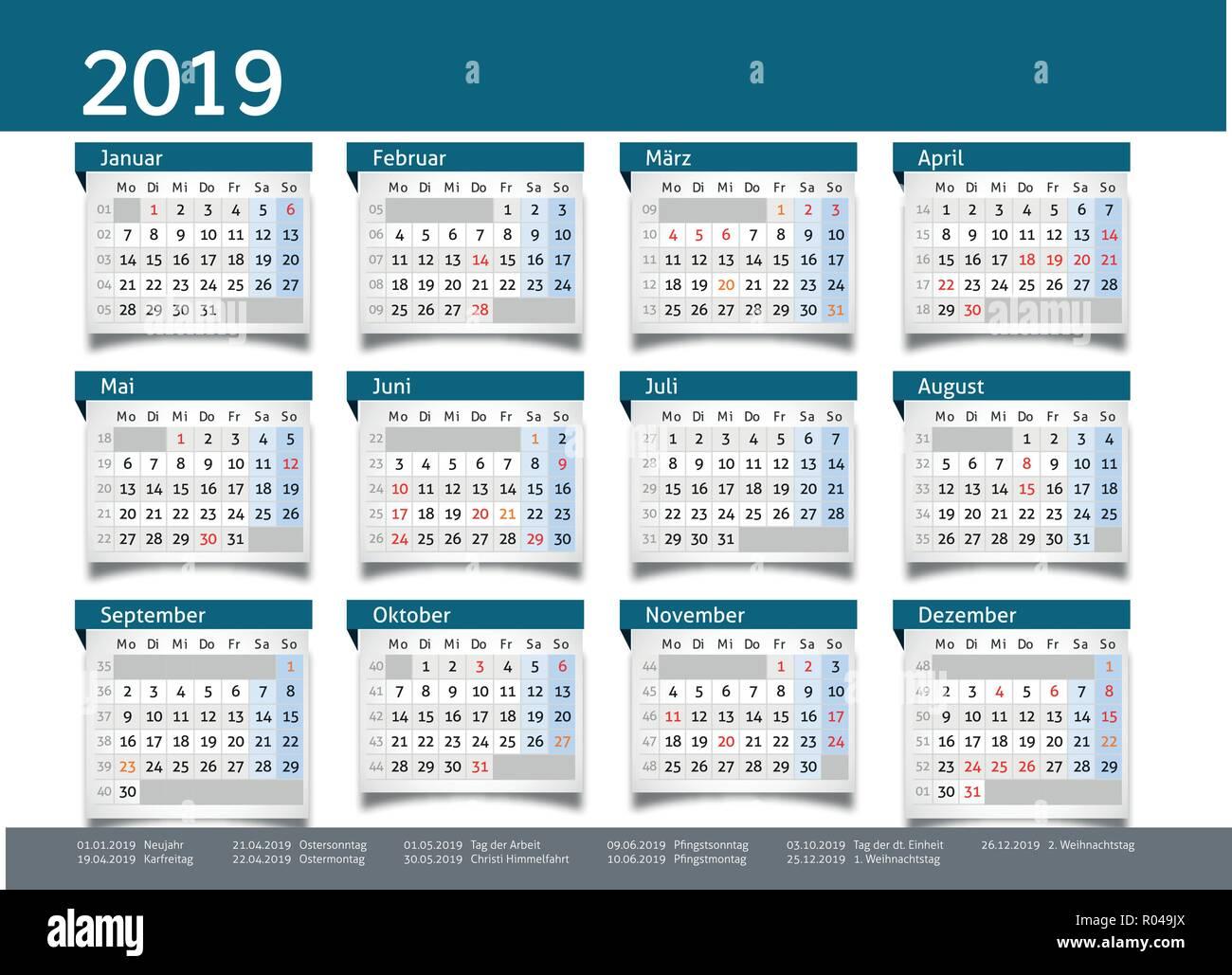 Calendrier De Poche 2019.Calendrier 2019 Planificateur Annuel D Affaires Vecteur An