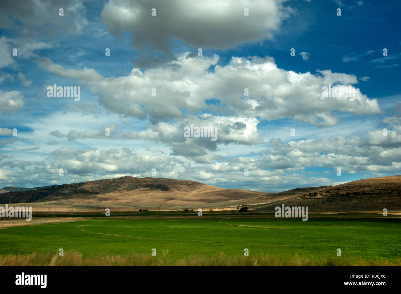 Grand ciel et terre ouverte dans le Montana, USA Photo Stock