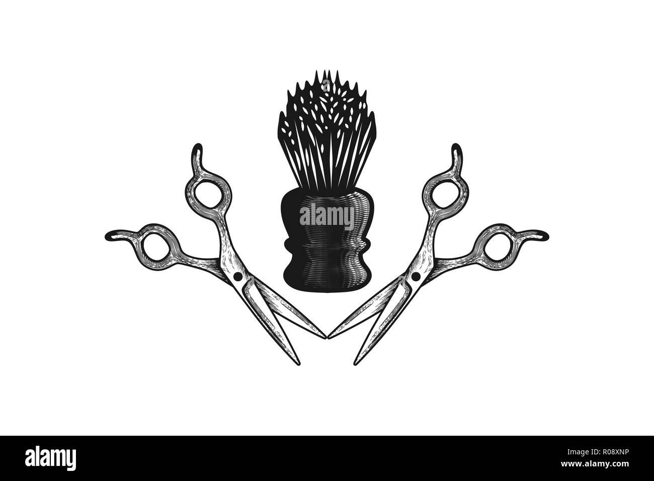 Salon De Coiffure Logo Design Inspiration Vecteurs Et Illustration