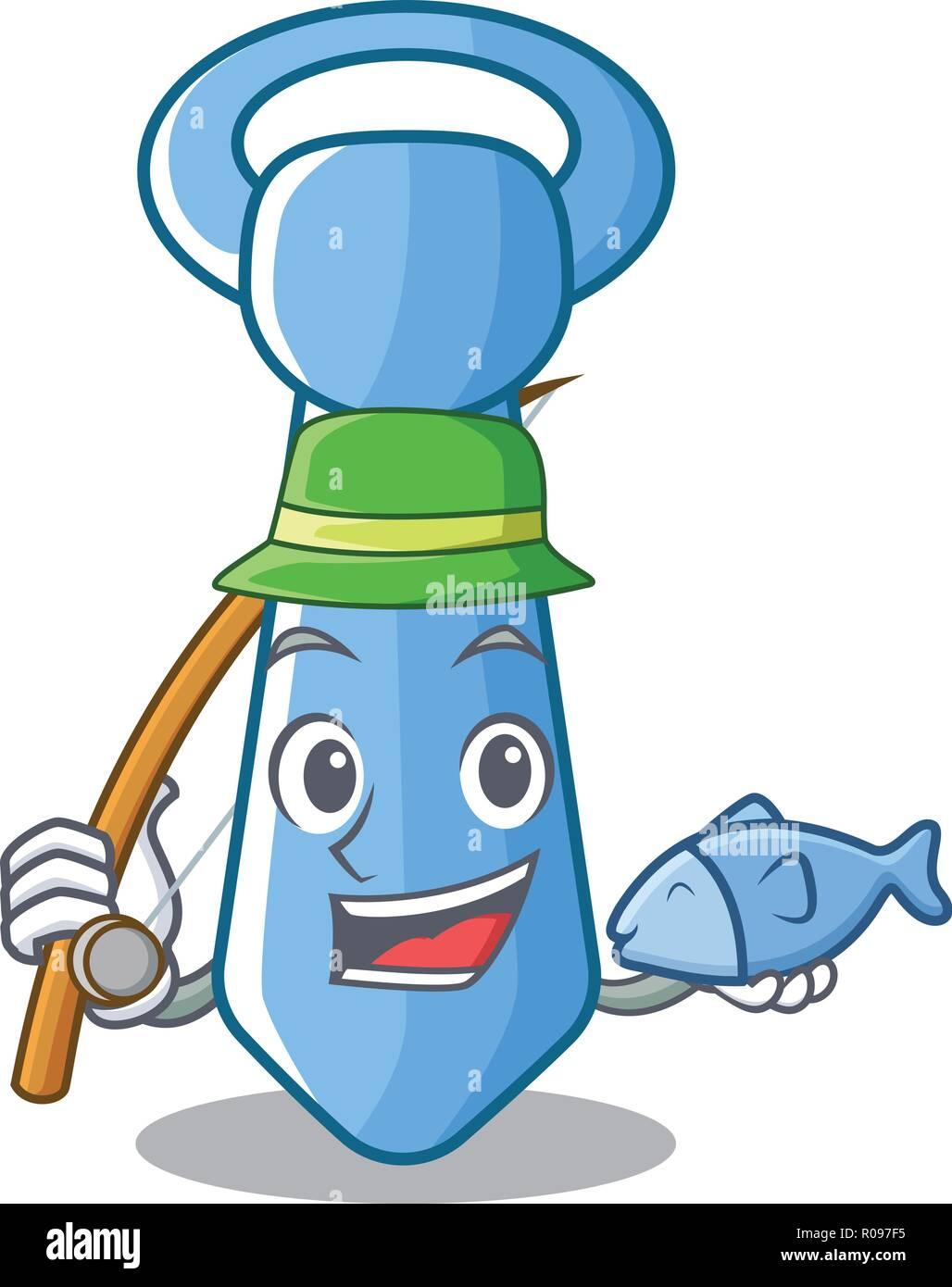 Cravate homme rayée de la pêche dans l'icône cartoon Photo Stock