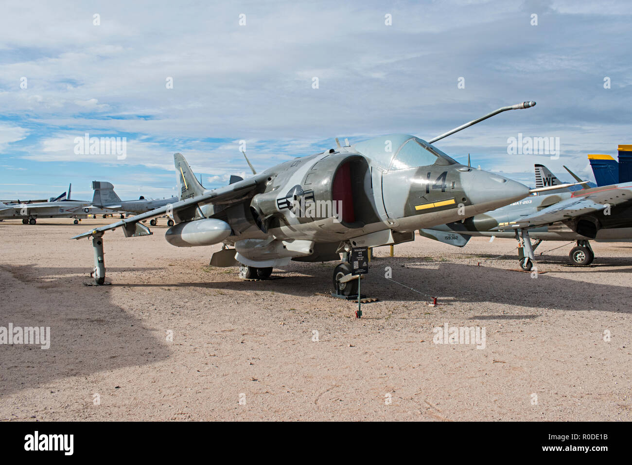 Harrier, Pima Air & Space Museum. Tucson Arizona. USA Banque D'Images