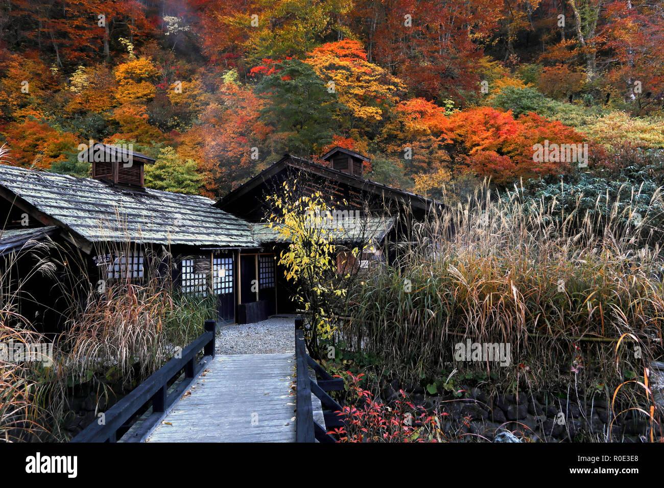 Onsen Nyuto, Akita, Japon Photo Stock