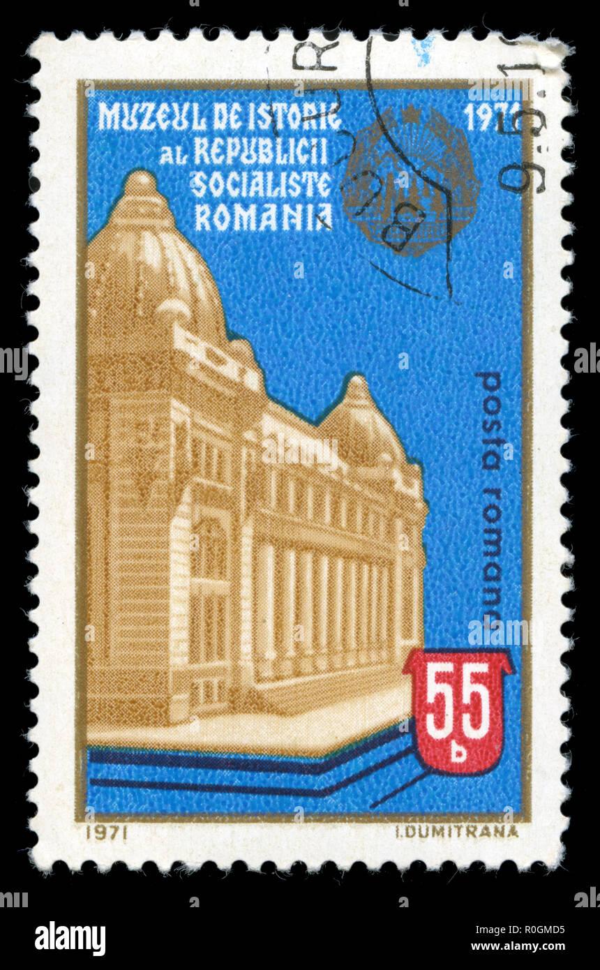 8a10b663d2 Timbre-poste à partir de la Roumanie dans le musée national d'histoire série