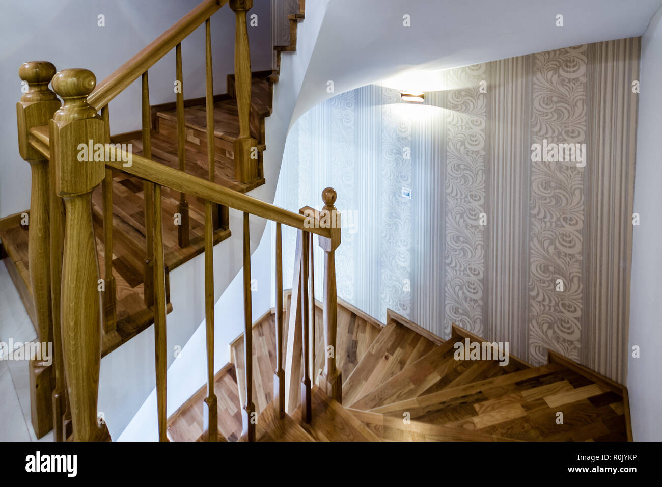 Escalier Interieur Maison Moderne escalier intérieur en bois de décoration d'une maison