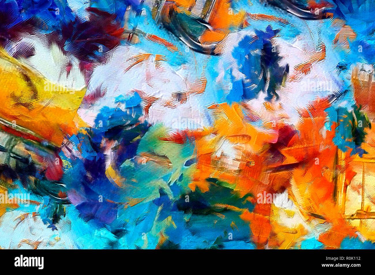 La peinture abstraite. Art en vente. La peinture