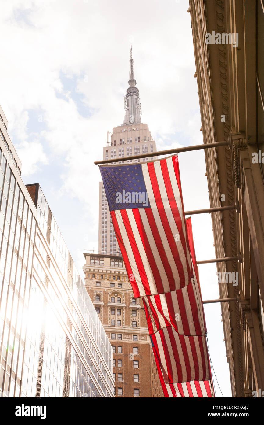 Empire State Building, W33ème Street, New York City, Etats-Unis d'Amérique. Banque D'Images