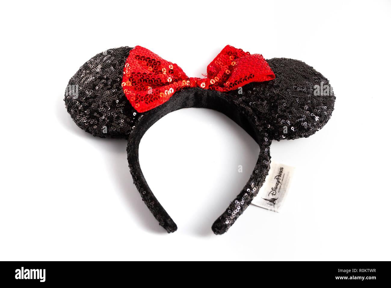 Ensemble D Oreilles De Mickey Minnie De Disney World Banque D Images