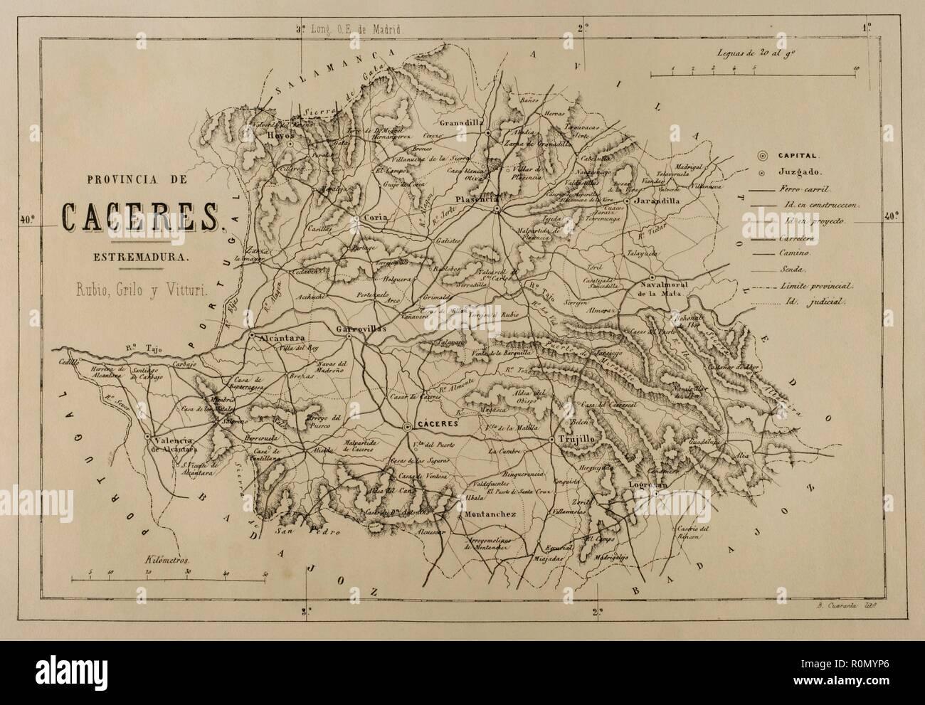 Mapa Provincia De Cordoba España.Mapa De La Provincia De Cordoba Cronica General De Espana