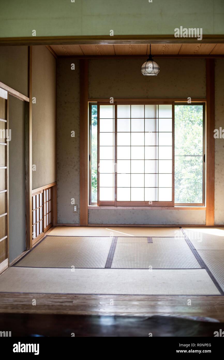 Interieur Maison Japonaise Traditionnelle intérieur de maison traditionnelle japonaise avec tatamis et