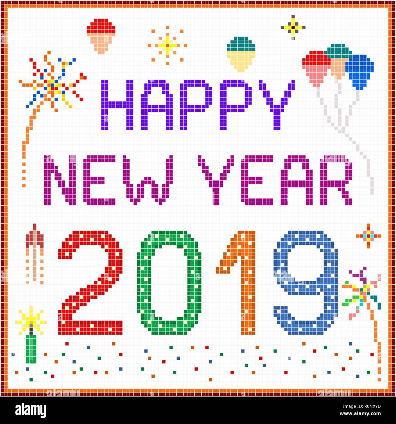 Nouvelle Année 2019 Message De Pixel 2019 Message Du