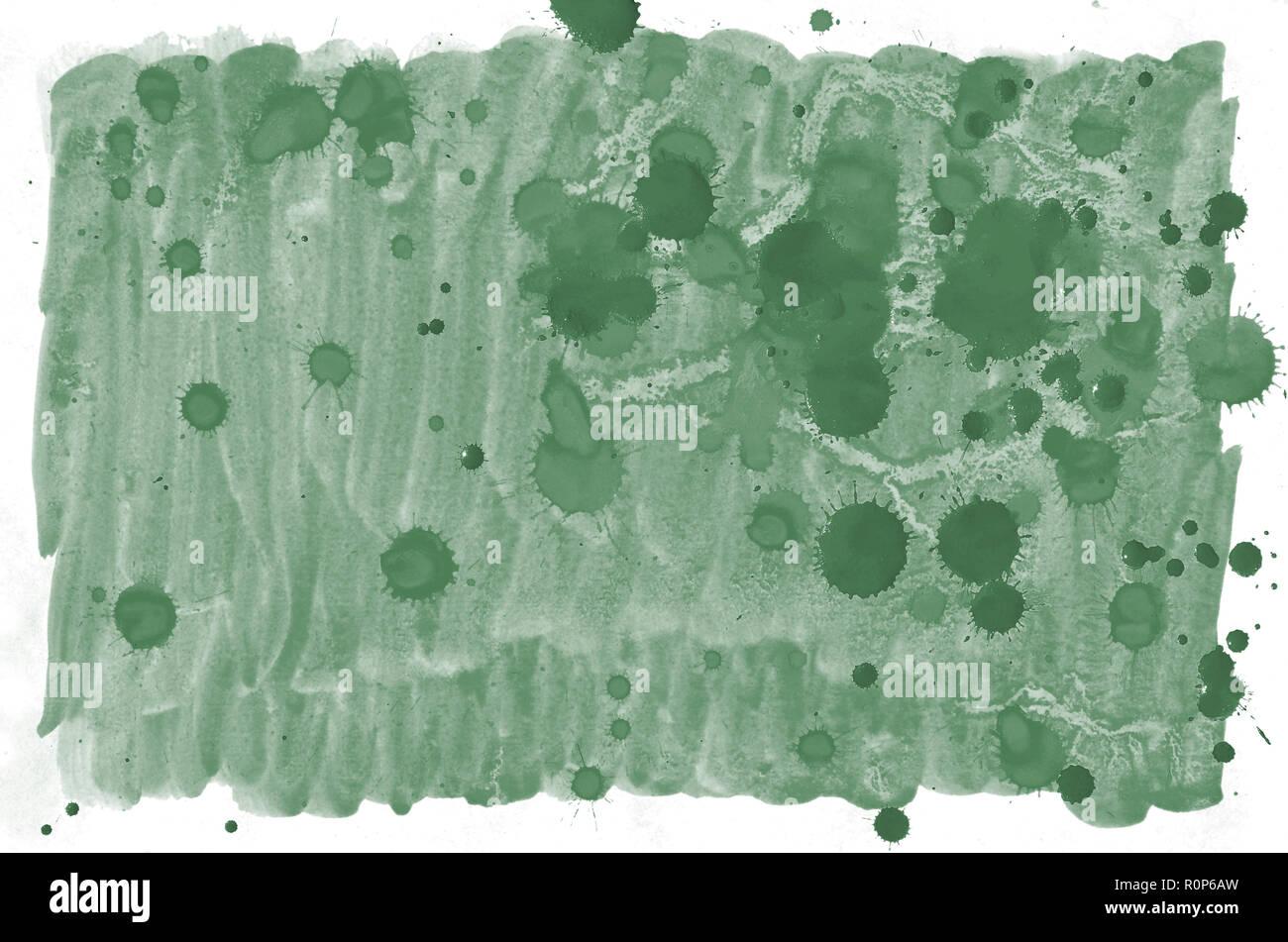 Contexte Aquarelle Vert Fonce Colore Pour Papier Peint Illustration