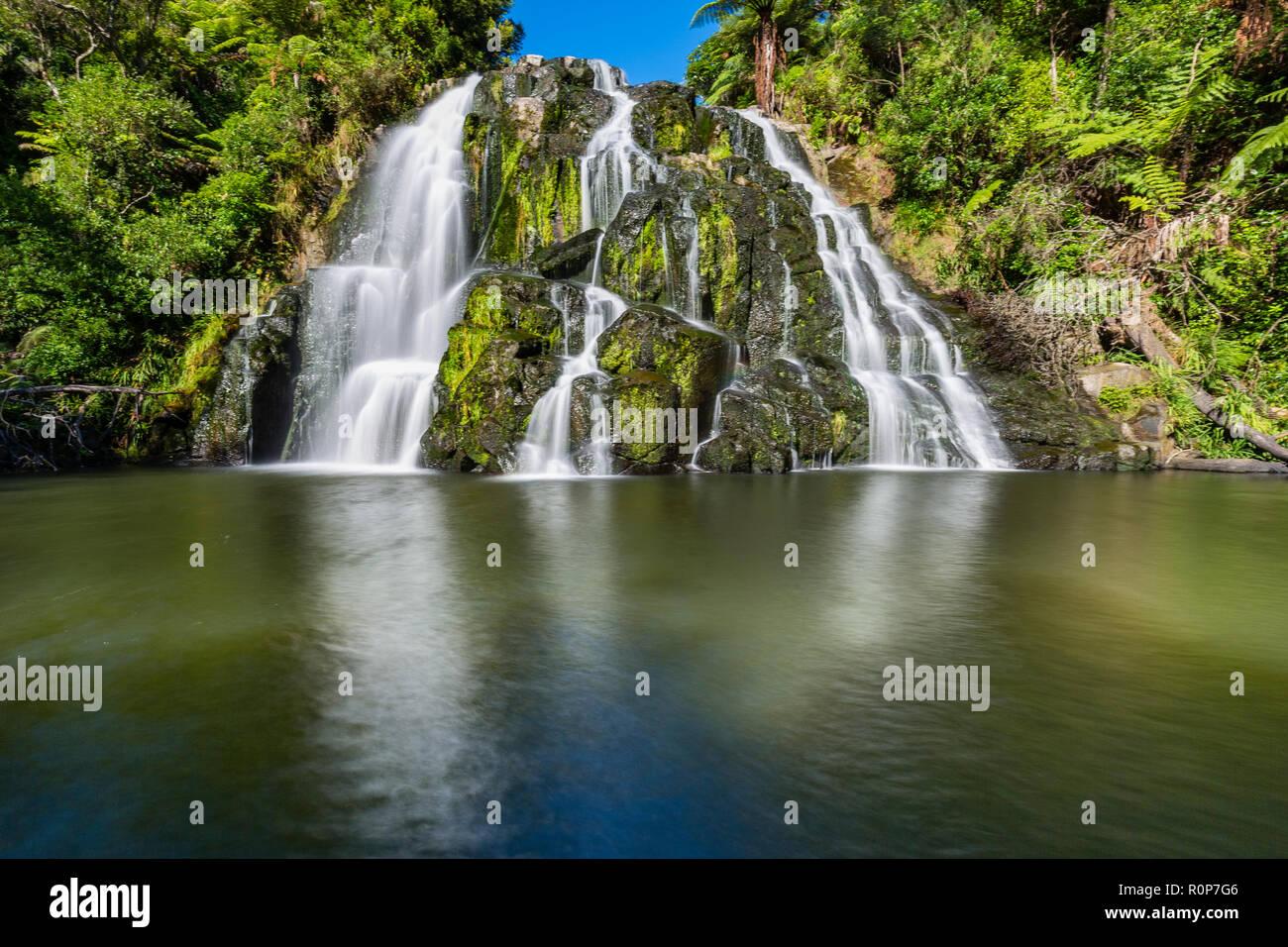 Owharoa magique Falls, péninsule de Coromandel, Nouvelle-Zélande Photo Stock