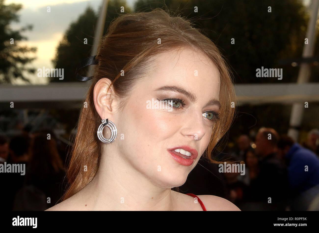 Sep 13, 2018 - Emma Stone assister à la première mondiale de 'Maniac', Southbank Centre à Londres, Royaume-Uni Photo Stock