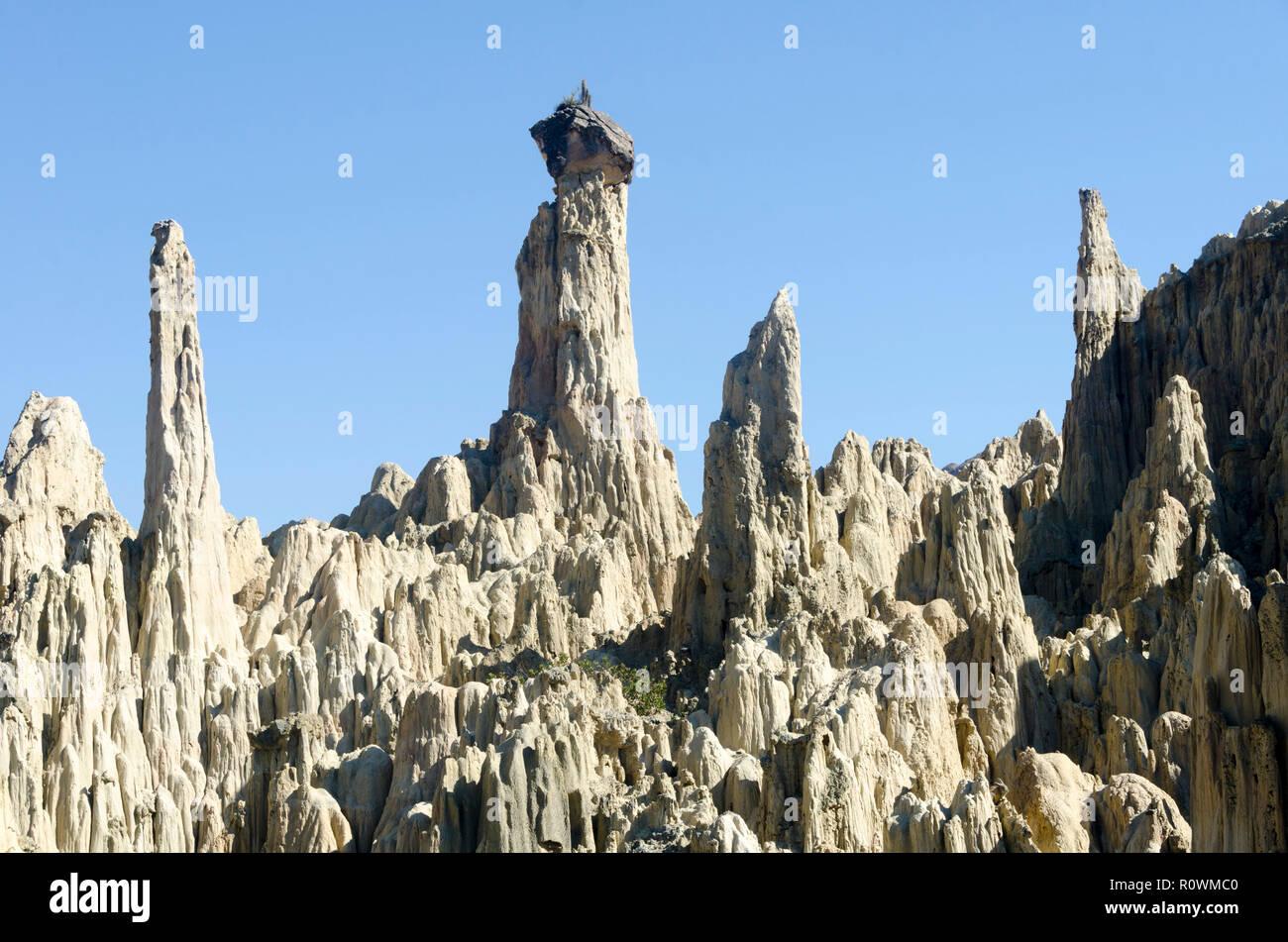 Valle de la Lune, la vallée de la Lune, La Paz, Bolivie Banque D'Images