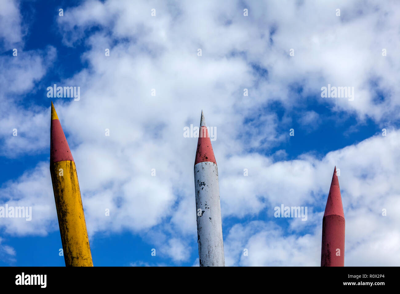 Crayons de couleur, Marie-Durand-école, Bad Karlshafen, Weser Uplands, Hesse, Germany, Europe Photo Stock
