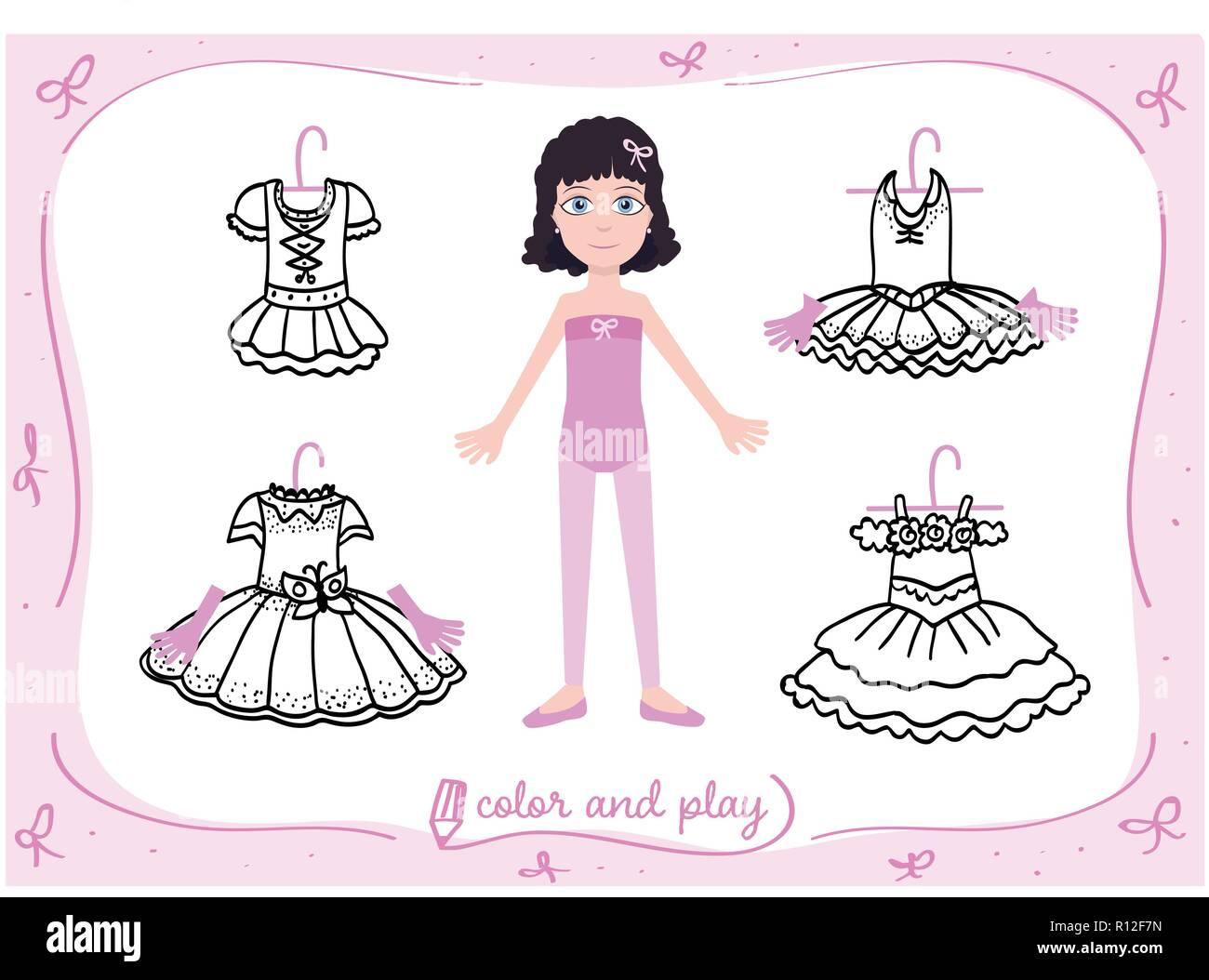 Jeune Fille Comme Petite Danseuse De Ballet Habille La