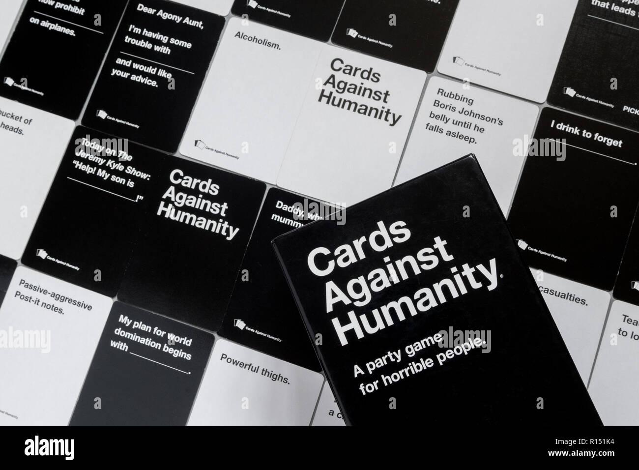 Jeu de cartes contre l'humanité - UK Edition Photo Stock